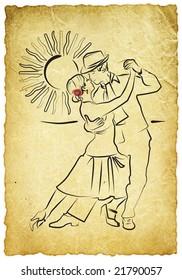 tango drawing