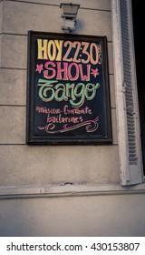 tango show sign