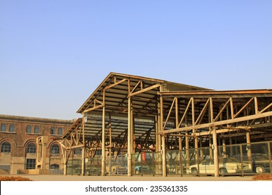 TANGSHAN CITY - NOVEMBER 18: Abandoned factory warehouse, on november 18, 2014, Tangshan City, Hebei Province, China