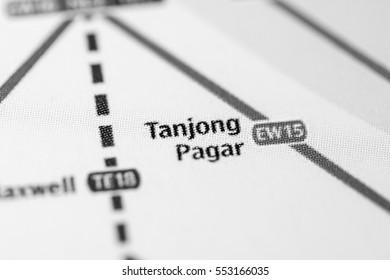 Tanjong Pagar Station. Singapore Metro map.