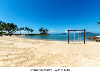 Tanjung Aru beach in Kota Kinabalu Sabah malaysia Borneo.