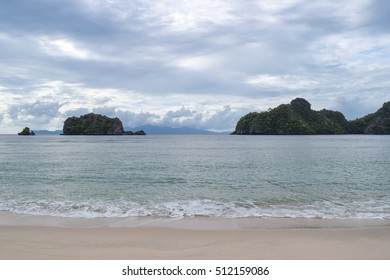 Tanjung beach of Langkawi island. Strait of Malacca. Andaman sea