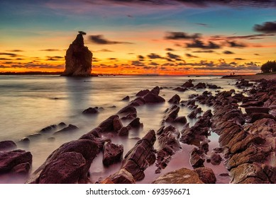Tanjung Layar Beach, Sawarna, Indonesia