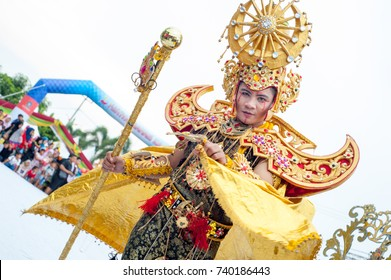 "Tanjung Pinang, Indonesia, October 2017: ""Kepri Fashion Carnival 2017"""