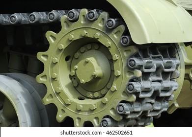 Tank Caterpillar Track with Wheels