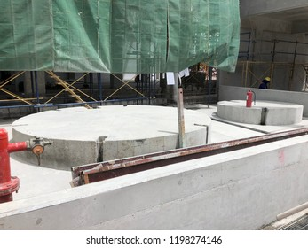 Tank Concrete Foundation with slope  Pressure Vessel Fabrication
