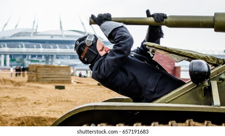 Tank festival, Park of the bicentennial, Saint-Petersburg, 10 june 2017