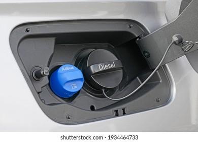 Tank filler neck for AdBlue and Diesel