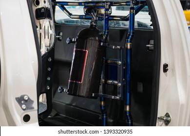 Tank nos in racing car - Shutterstock ID 1393320935