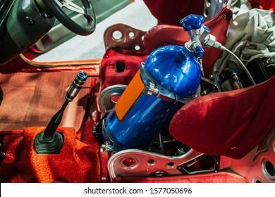 Tank nos in racing car. - Shutterstock ID 1577050696