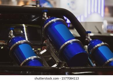 Tank nos in racing car. - Shutterstock ID 1577084113