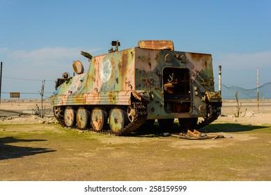 Tank on Failaka 2