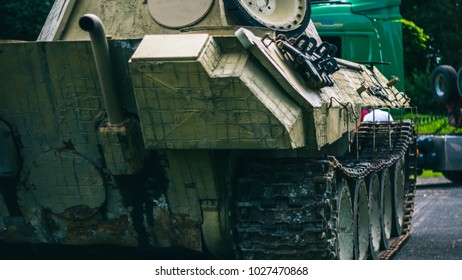 tank on a military exhibition