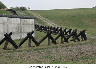 Tank traps at inner german wall memorial