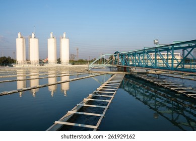 Tank in water plant treatment