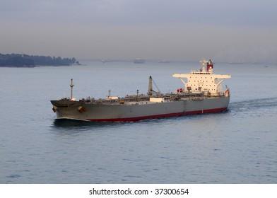 Tanker crude oil carrier ship designed for transporting crude oil