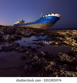Tanker Hephaestus. Shipwreck. Qawra, Malta. 11 March, 2018