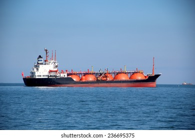 tanker on the high seas