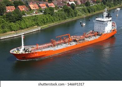 tanker on Kiel Canal