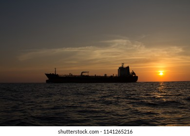 Tanker ship passing the Similan islands in Thailand