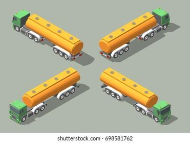 Tanker Truck isometric icon graphic illustration design. Infographic elements