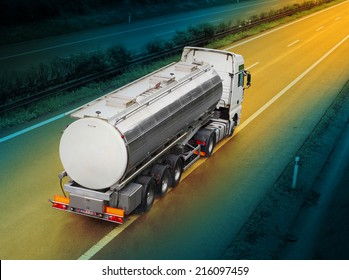Tanker truck on the highway.