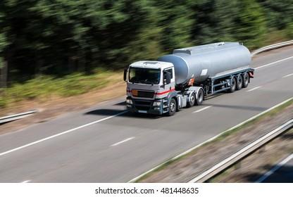 Tanker truck on the motorway