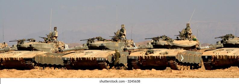 tanks at the desert