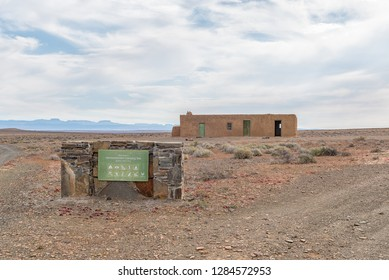TANKWA KAROO NATIONAL PARK, SOUTH AFRICA, AUGUST 30, 2018: The Volmoersfontein Camping Site in the Tankwa Karoo National Park in the Northern Cape Province