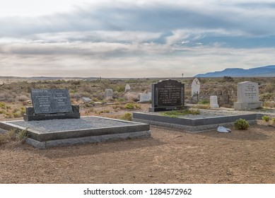 TANKWA KAROO NATIONAL PARK, SOUTH AFRICA, AUGUST 30, 2018: An historic cemetery in the Tankwa Karoo National Park in the Northern Cape Province of South Africa