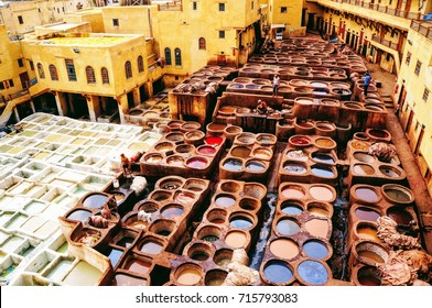 Tanneries, Medina of Fez, Morocco