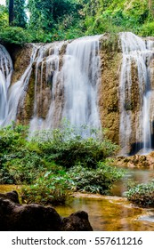 Tansawan waterfall in Doi Phu Nang national park, Thailand.