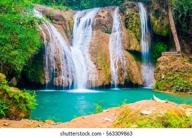 Tansawan waterfall in Doi Phu Nang national park, Thailand.