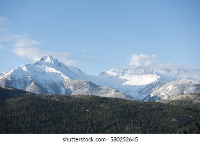 Tantalus range of mountains seen from Squamish, British Columbia, Canada
