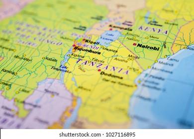 Tanzania on map