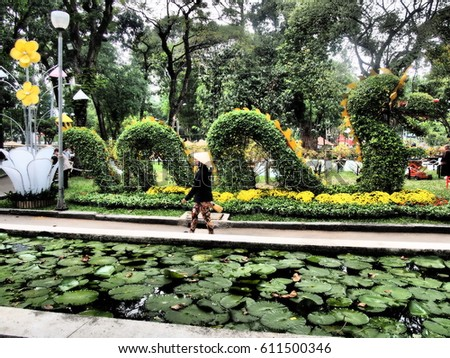 Tao Dan Park Ho Chi Minh Stock Photo (Edit Now) 611500346 - Shutterstock