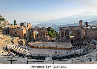 Taormina theater, Sicily