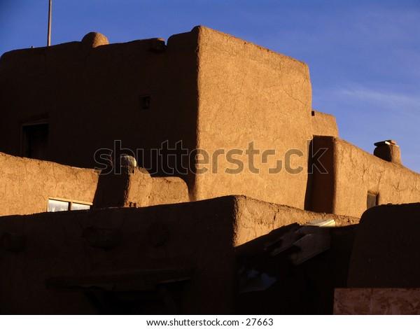 Taos Pueblo house.