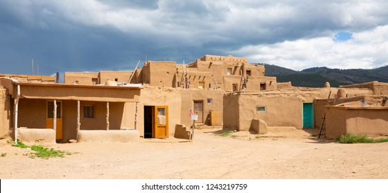 Taos Pueblo National Historic Site in New Mexico, Unesco World Heritage, USA