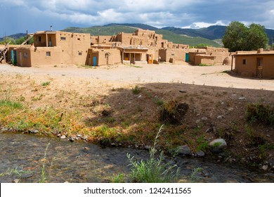 Taos Pueblo National Historical Landmark in New Mexico, Unesco World Heritage, USA