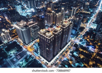 Taoyuan, Taiwan - September 23, 2017: Taoyuan Arts Plaza is a famous scenic and business zone in Taoyuan District, Taoyuan City, Taiwan.