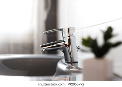 tap in a modern bathroom