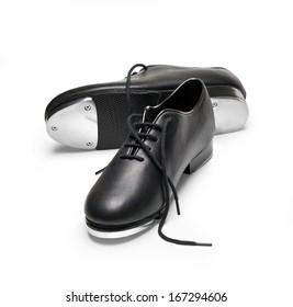 tap shoes on a white background with clipping path