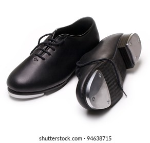 tap shoes on a white background