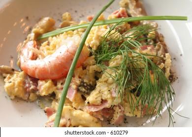 Tapas with a shrimp