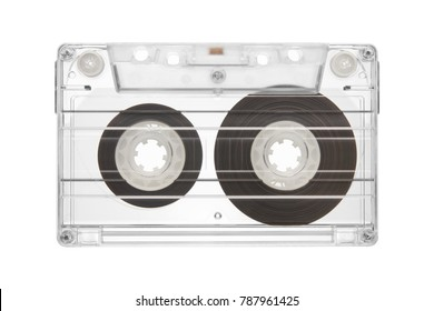 tape cassette isolated on white background