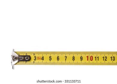Tape measure in centimeters