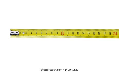 Tape Measure horizontal isolated on the white background