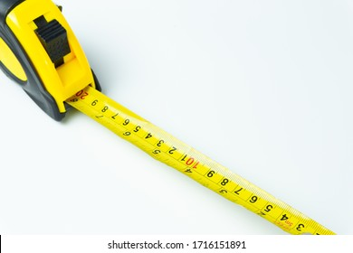 Tape measure isolated on white background.