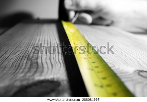 Tape measure wood